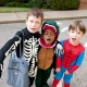 Skeleton, Dino, and Spider Man