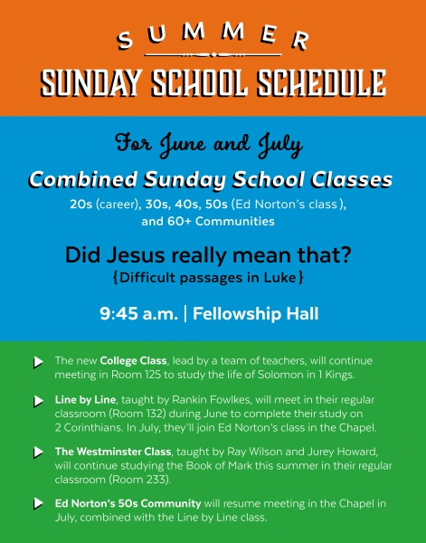 Sunday School ScheduleWebPage